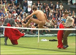 How sensible Englishmen enjoy tennis on the lawn.